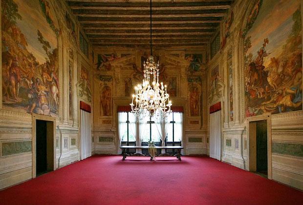 Villas Vénitiennes à visiter: Villa Godi Malinverni, l'intérieur