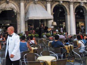 Restaurant in Venedig auf dem Markusplatz