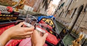 dîner romantique à Venise