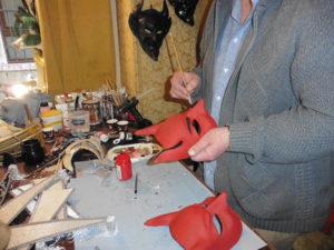 fabricatio du masque de venise