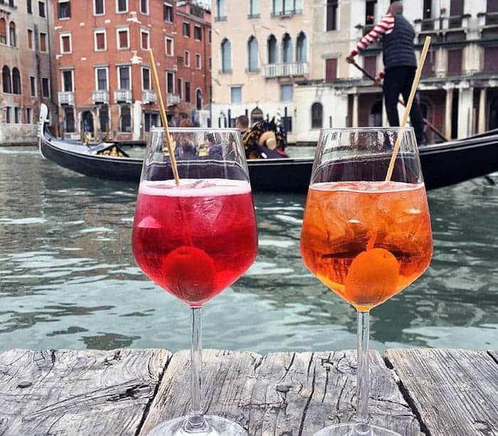 Spritz-gondole.Venise