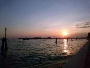 coucher de soleil mini croisiere venise