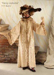 Costumi veneziani, noleggio a Venezia
