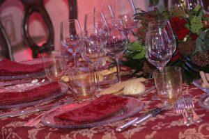 glasses of wine during carnival in love