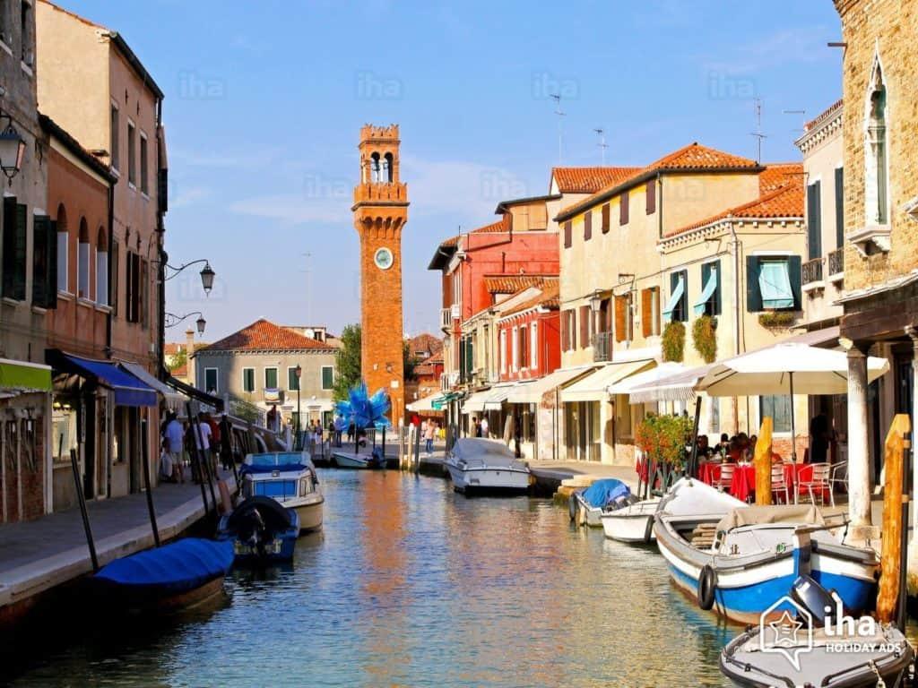 Lagune de Venise en bateau - Verre de Murano - Vivovenetia