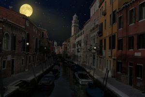 Nuit Venise lugubre pénombre Vivovenetia