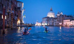 Venise kayak soirée Vivovenetia