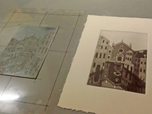 Оттиск ремесленной типографии мастера Венеции