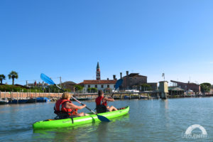 Canoe Venise Lagune balade Vivovenetia