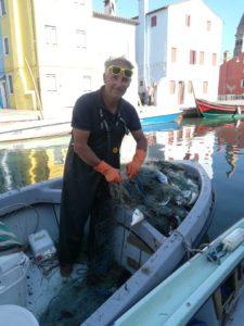 Pecheur Venise Andrea bateau